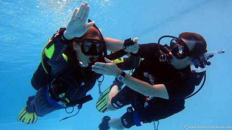 PADI IDC in Koh Lanta, Phi Phi, Tao, Phuket, Thailand, Confined Water, diving, dive instructor course