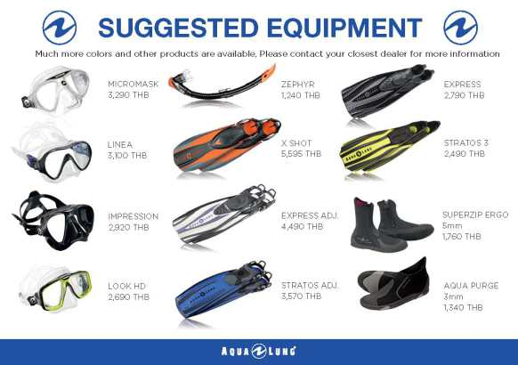PADI IDC Equipment Aqualung Required Accessories