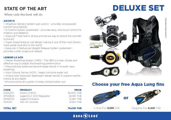 PADI IDC Equipment Aqualung Deluxe Set