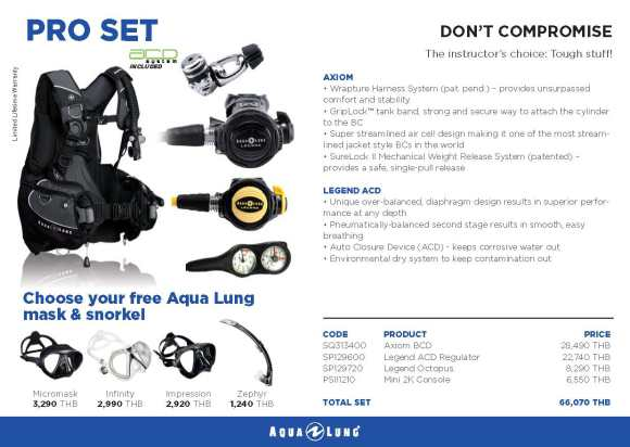 PADI IDC Equipment Aqualung Pro Set