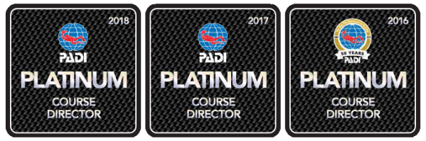 Platinum Course Director, PADI IDC, Best Course Director In The World, IDC Thailand
